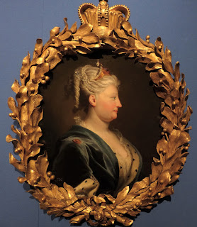 Queen Caroline by J Highmore (c1735)  Royal Collection  Photo from The First Georgians exhibition