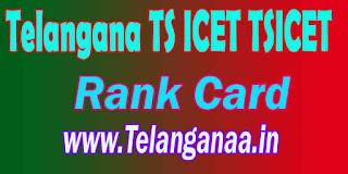 Telangana TS ICET TSICET Rank Card 2017