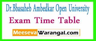 Dr.Bbasaheb Ambedkar Open University CTBA / DMCH / DVHM Practical Traning Mar-Jun-2017 Exam Time Table