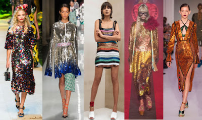 Looks from L-R: Dolce & Gabbana, Au Jour Le Jour, Attico, Gucci and Marco de Vincenzo. Photos: Imaxtree (2), Courtesy of Attico, Imaxtree (2)