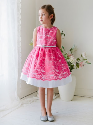 vestidos de niña para boda color rojo