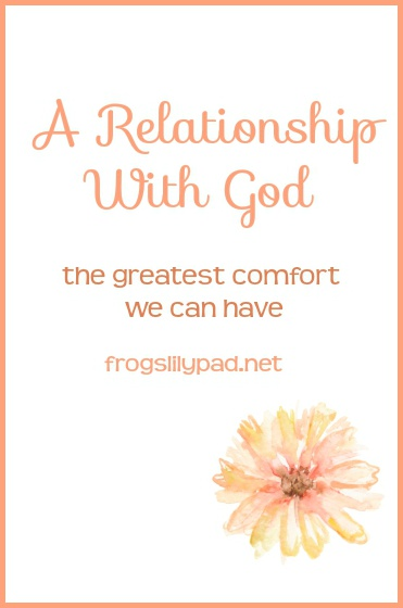 A close relationship with God, you'll be amazed at what you learn and you'll see things you've never seen before. frogslilypad.net