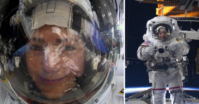 """Astronauta scatta selfie """"spaziali"""" con una Nikon D5"""