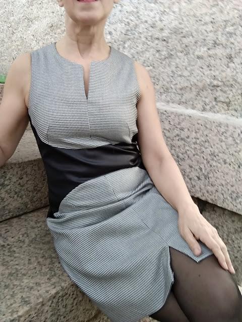 patrón interesante vestido sesentero
