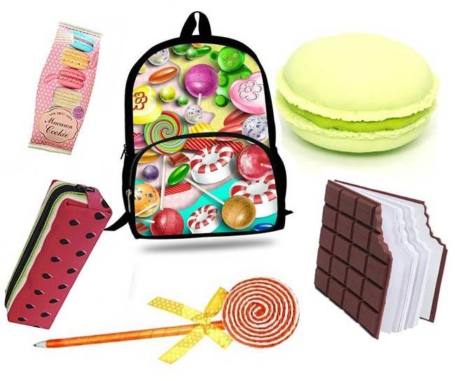 fournitures scolaires en bonbons