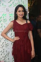 Pragya Jaiswal in Stunnign Deep neck Designer Maroon Dress at Nakshatram music launch ~ CelebesNext Celebrities Galleries 084.JPG
