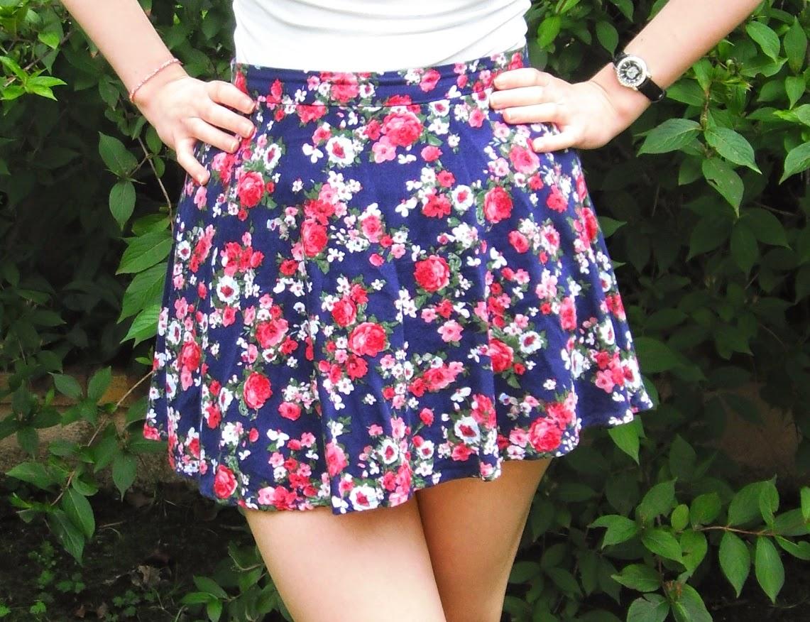 Favoris été 2014 mode jupe patineuse fleurs forever 21