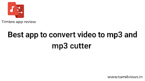 How to Convert Video to Mp3 songs | Timbre app review