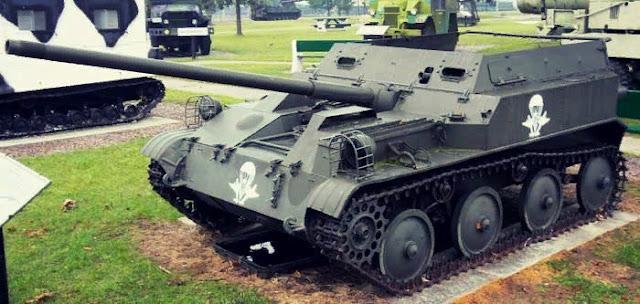 Авиадесантная самоходная артиллерийская установка АСУ-57 в музее в США