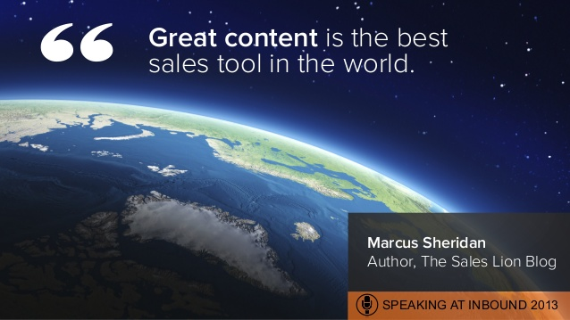 Great content is the best sales tool in the world.