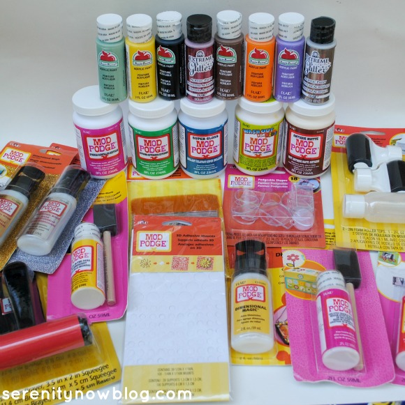 Mod Podge Goodies, from Serenity Now blog