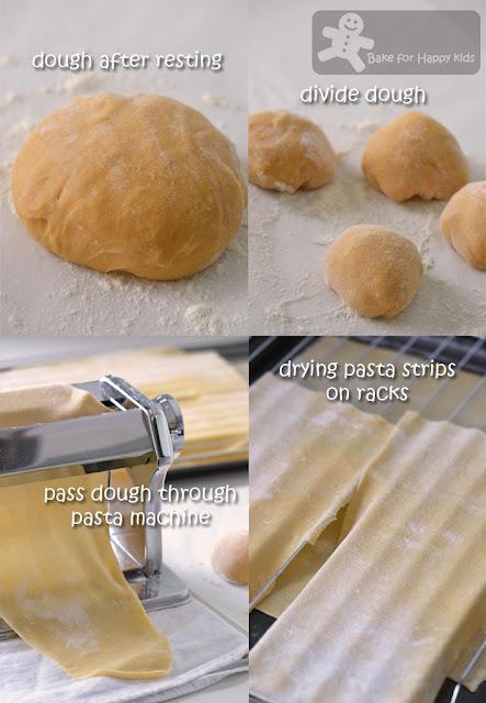 homemade pasta lasagne sheets