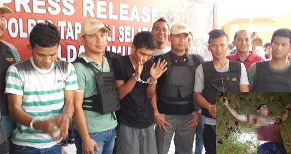 Polisi memaparkan penangkapan para tersangka pelaku pembacok anggota Brimob di Tapsel. Insert tersang yang tewas ditembak karena melawan saat hendak ditangkap.