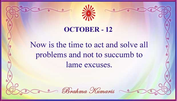 Thought For The Day October 12