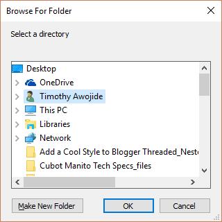 UMPlayer Browse a Folder