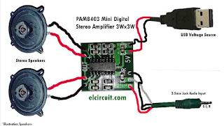 Wiring circuit for stereo digital power amplifier