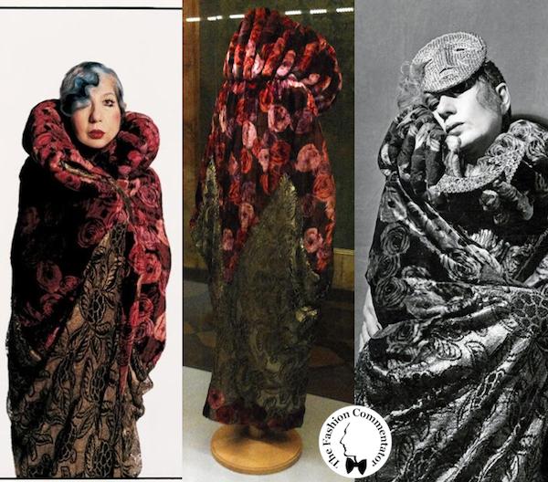 Donne protagoniste del Novecento - Anna Piaggi wearing Paul Poiret cape (1920) - Galleria del Costume Firenze