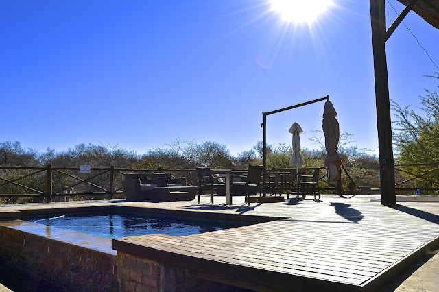 Pool area at Pilanesberg Private Lodge, South Africa