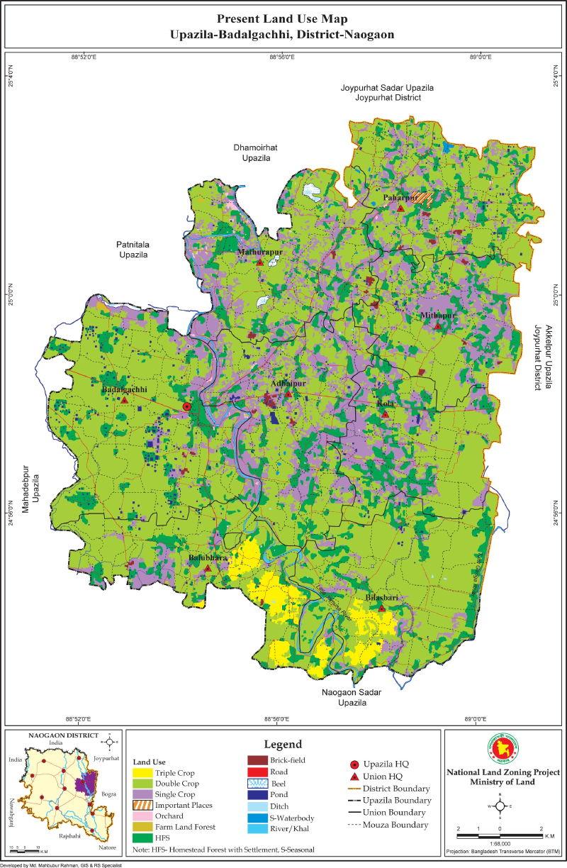 Badalgachi Upazila Mouza Map Naogaon District Bangladesh