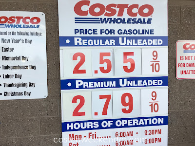 Costco gas for January 25, 2017 at Redwood City, CA