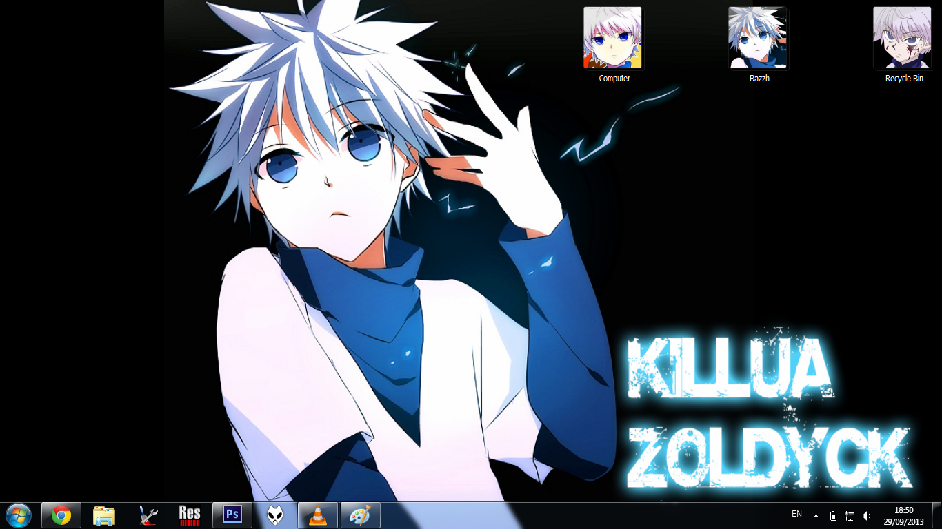 [Theme Win 7] Killua Zoldyck V3 By Bashkara ~ Welcome