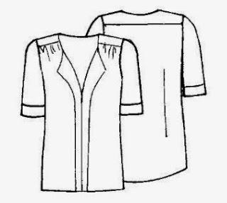 Patrón gratis blusa de gasa