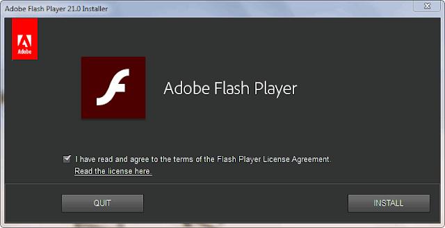 Adobe Flash Player ActiveX, NPAPI, PPAPI Offline Installer Versi Terbaru. Beserta langkah-langkah cara menginstall di laptop/pc.