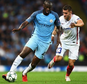 Yaya Toure in action