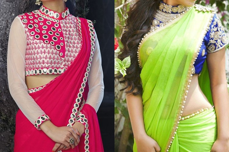 Easy Ideas or Tips Design a Plain Saree at Home