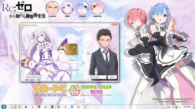 Re:Zero kara Hajimeru Isekai Seikatsu V2 Theme Win 7 by Enji Riz Lazuardi