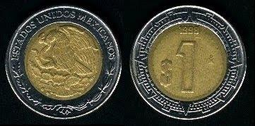 Mexico 1 Peso (1996+) Coin