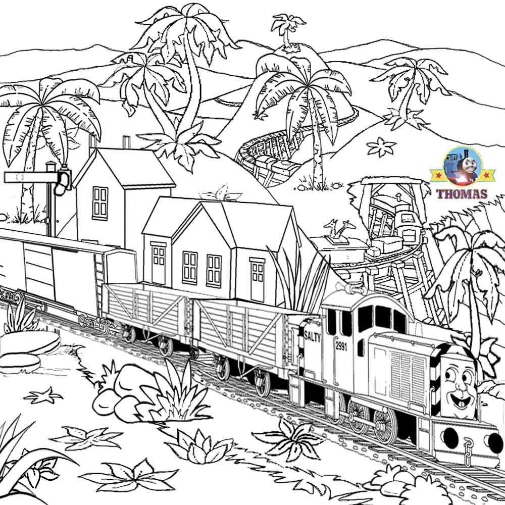 Diesel Thomas Tank Coloring Pages Pictures to Pin on