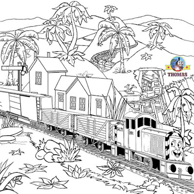 Thomas tank the train art coloring Salty the dockyard diesel engine pictures to color coloring pages