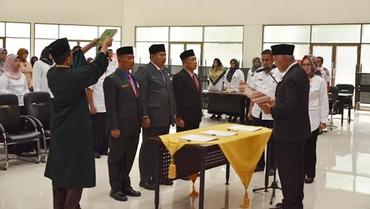 Wako Mahyeldi Lantik Pejabat Eselon II, Al Amin Jabat Kasatpol PP