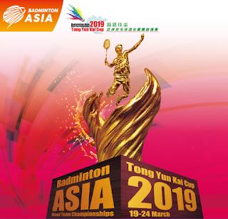 Live Skor Badminton Asia Tong Yun Kai Cup 2019