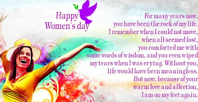 Women's day greetings with quotes image