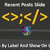 Memasang Recent Posts Slide Responsive By Label And Show On Label Pages