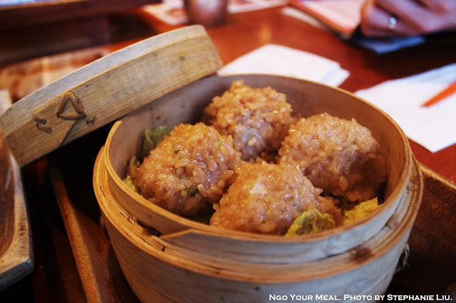 Steamed Chicken Meatballs covered with Sticky Rice at Cocoron