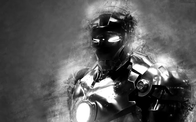 wallpaper iron man black