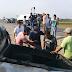 ACCIDENTE EN PANAMERICANA SUR, DEJA A DOS PERSONAS HERIDAS