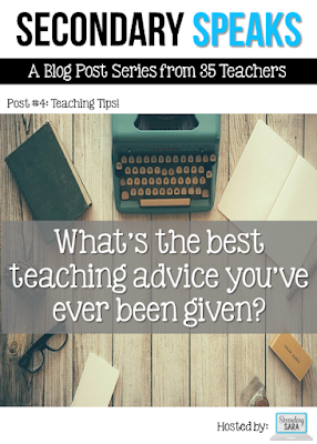 Are you a new teacher getting ready to start in your first teaching job? Do you know a new teacher? This post takes the best teaching advice given to a variety of secondary teachers, so click through to read the post and then bookmark it to come back to - often!