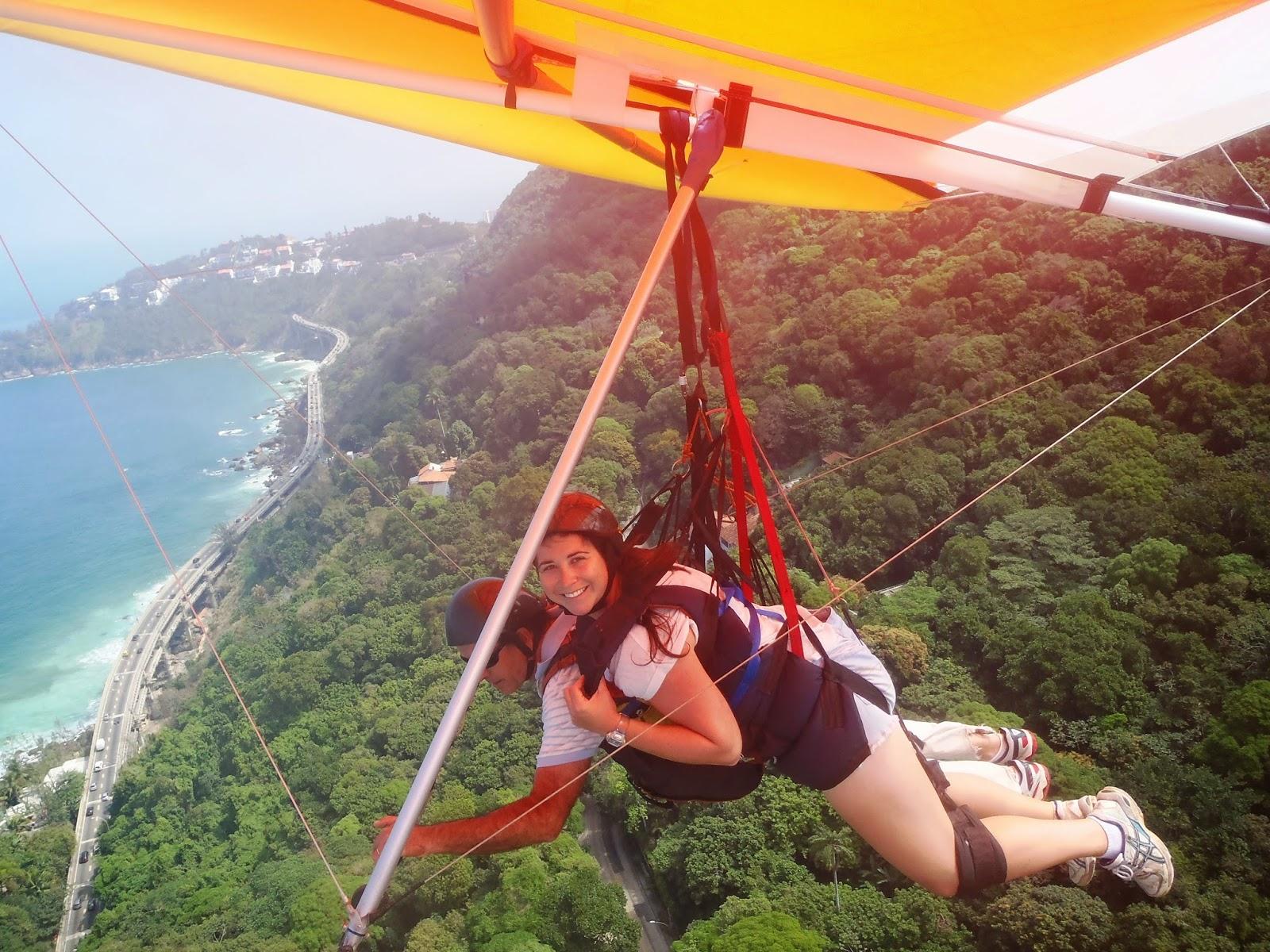 Hang Gliding over forest and beaches in Rio de Janeiro