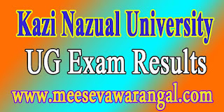 Kazi Nazual University UG 2016 Exam Results