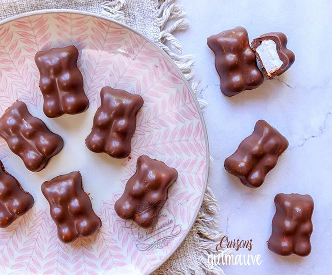 oursons guimauve chocolat