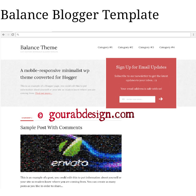 Balance adsense approved blogger template