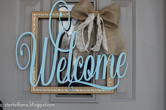 DIY Welcome Door Hanger