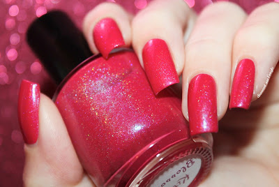 """Swatch of the nail polish """"Kitty Blossoms"""" from Eat Sleep Polish"""
