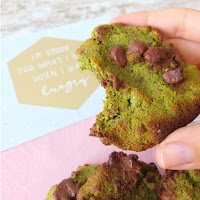 GLUTENFREE & VEGAN MATCHA COOKIES