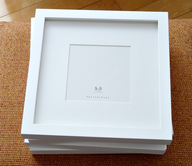 Nice quality square white frames
