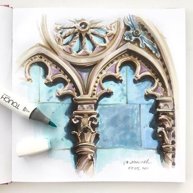 03-Gothic-Stone-Window-Detail-Ekaterina-Suricat-www-designstack-co